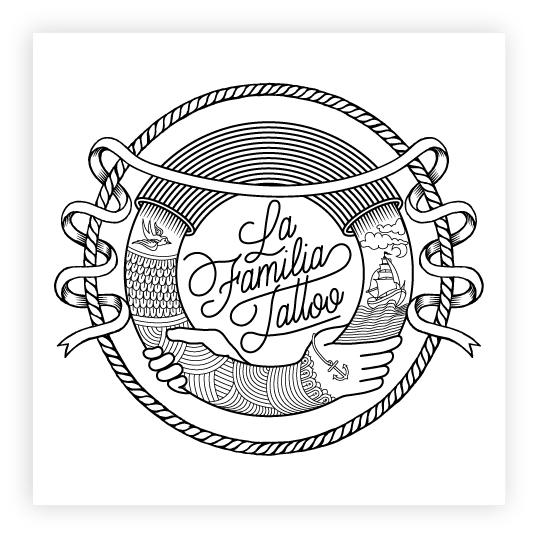 ... made for the tattoo studio La Familia Tattoo in Arteixo, Spain
