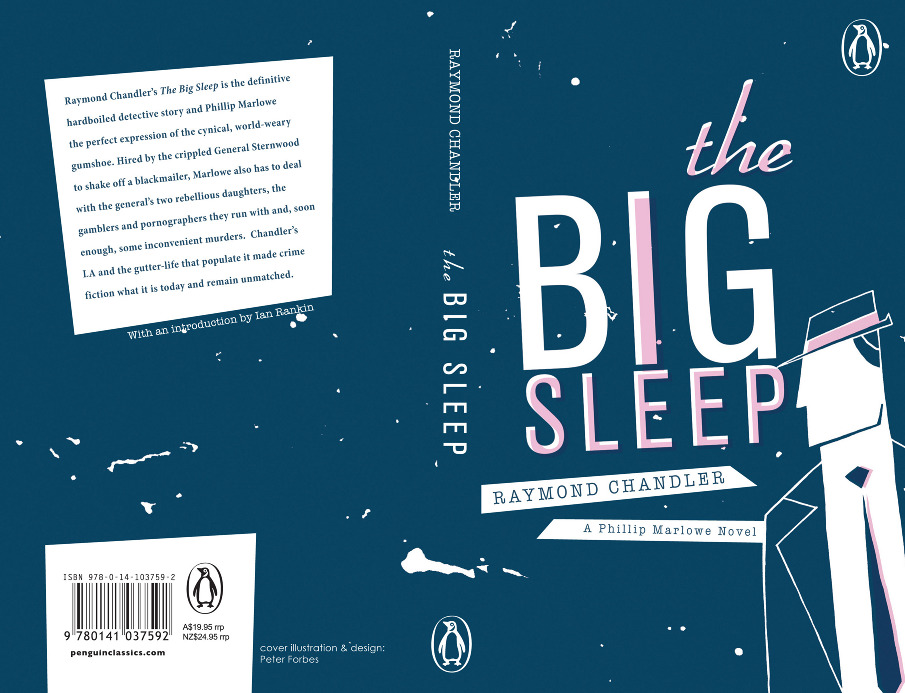 Book Cover Typography Height ~ The big sleep book cover peter forbes illustration